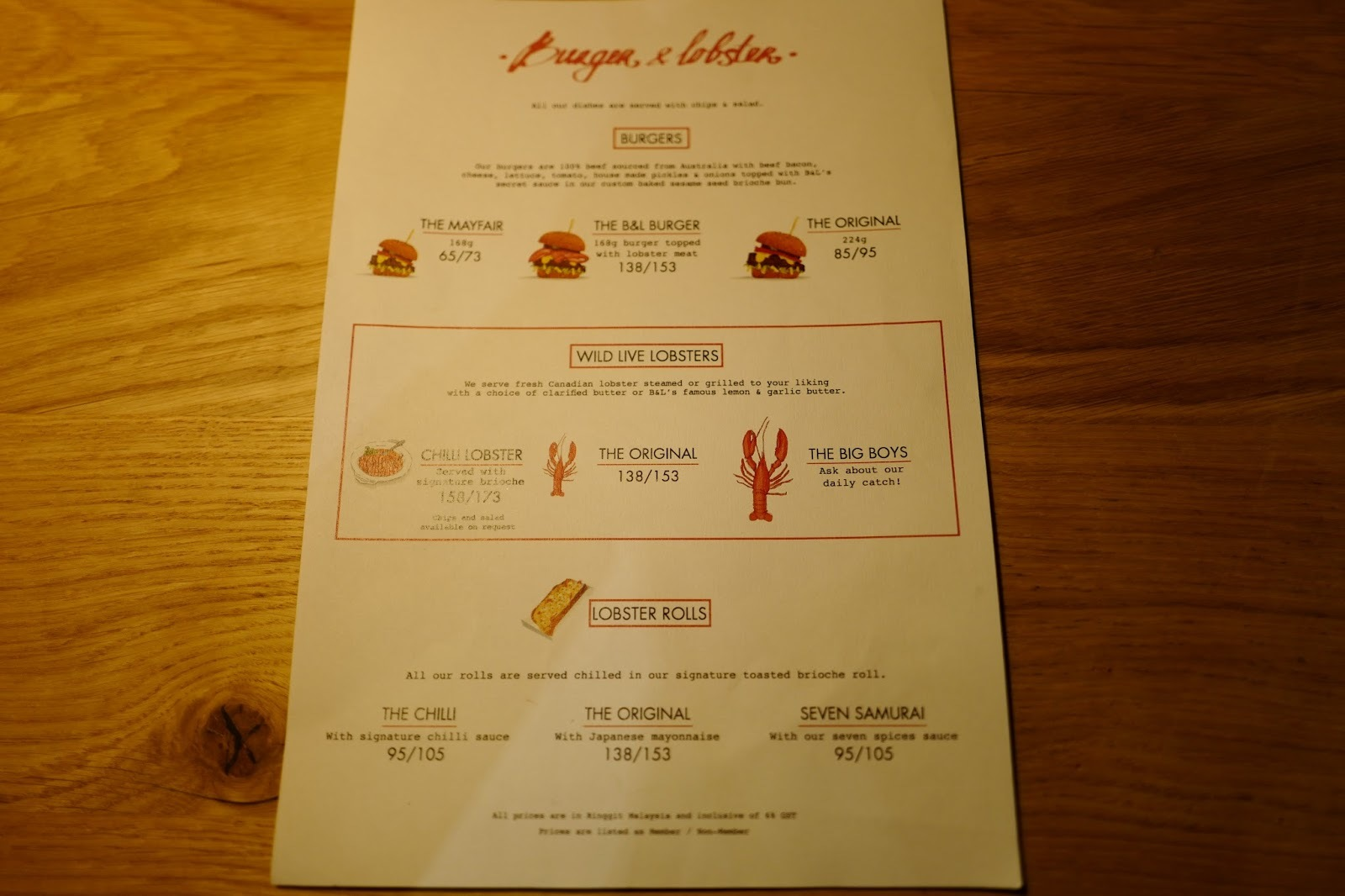 Burger & Lobster (Malaysia) Menu Price @ Resort World Genting Highlands Sky Avenue Mall - Mamak ...