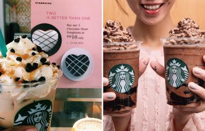 Starbucks Black Jelly Tea And Valentine's Donuts Promo