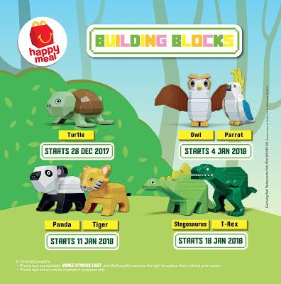 McD Happy Meal Free Toy Animal Building Blocks