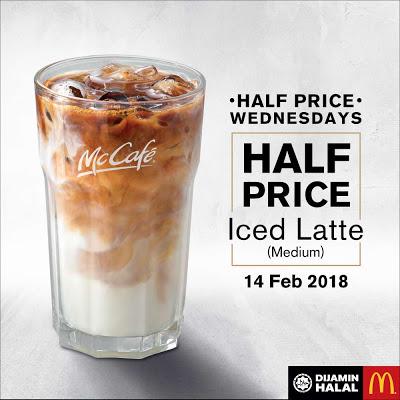 McCafé Iced Latte Half Price Wednesdays Discount Promo