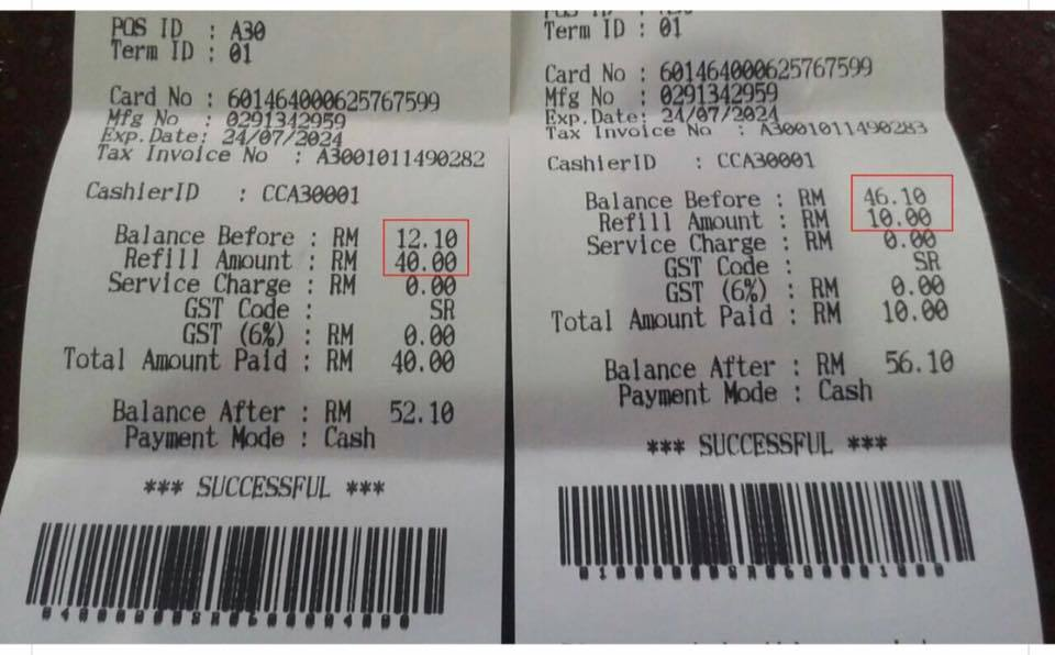 Beware Of Touch N Go Top Up Cheating Highway Tolls By Checking Your Balance Receipt After Each Reload Many Cases Reported Tip Durian Runtuh