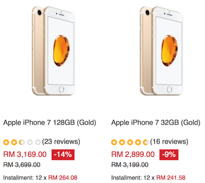 Apple iPhone 7 Malaysia Price Cut