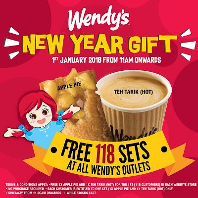 Wendy's Malaysia Free Apple Pie & Teh Tarik Giveaway