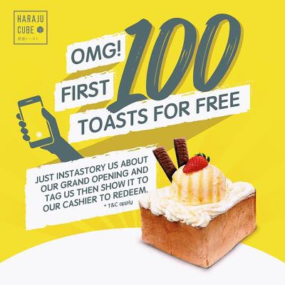 Free Haraju-Cube Toasts Giveaway