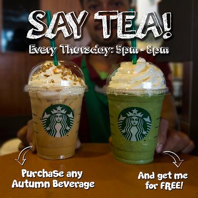 Starbucks Autumn Beverage Buy 1 Free 1 Promo