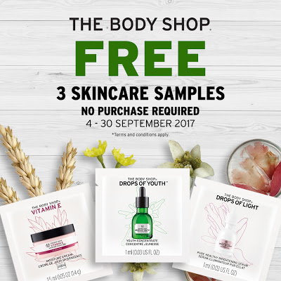 The Body Shop Malaysia Free Skincare Samples Giveaway