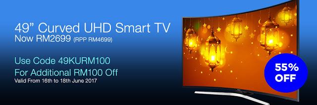 samsung 49 4k uhd tv rm2599 45 discount on np rm4699. Black Bedroom Furniture Sets. Home Design Ideas